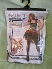 New Women's Spirit Army Brown Devil Fairy Halloween Costume Sexy! Size Small 2-4