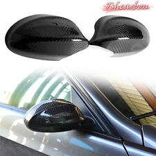 Carbon Fiber for BMW E90 3-Series 4D Sedan Side View Mirror Cover Trim 2008