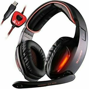 Gaming Headset SADES SA902 7.1 USB Virtual surround Stereo Sound PC Headsets