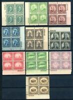 USAstamps Unused VF US Complete Set 1931 Rotary Plate Blocks Sctt 692-701 OG MNH