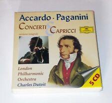 Box 5 Cd ACCARDO PAGANINI Concerti & Capricci Charles Dutoit Salvatore Niccolò