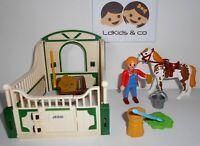 Playmobil Country Ferme Campagne Centre Equestre BOX CHEVAL + PALEFRENIERE #170