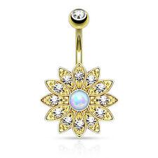 Body piercing oro cristallo , Diametro 10mm