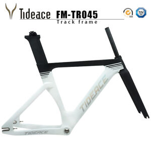 Tracking Fixed Gear Road Racing Bicycle Frame Tideace White Logo BSA 68MM Frames