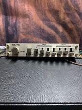 Vintage Elite Graphic Equalizer Amplifier Car old school audio