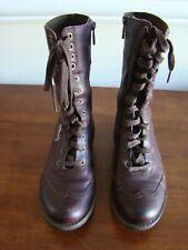 Timberland Women Shoes US 6.5 M Burgundy Boots UK 4.5 EU 37.5 Side Zipper