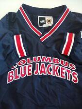 COLUMBUS BLUE JACKETS VTG PUMA Men's 2XL NHL Pullover Sweater Side Zip Pocket