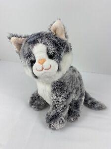 "Melissa and Doug Greycie Gray Striped Tabby Kitty Cats Plush 10"" Tall Soft Cute"