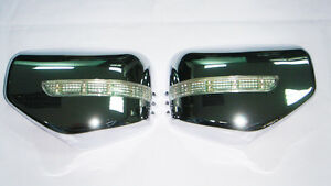 LED LH+RH Chrome Mirror Cover Turn Signal System FOR MITSUBISHITriton L200 06-13