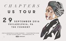 """YUNA """"CHAPTERS"""" 2016 PHILADELPHIA CONCERT TOUR POSTER- Adult Alt, Acoustic Music"""