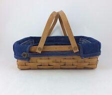 Longaberger 2005 Blue Ribbon Pie Basket Combo Denim