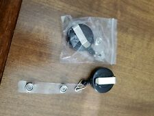 2Pcs Retractable Reel Recoil ID Badge Lanyard Name Tag Key Card Holder Belt Clip