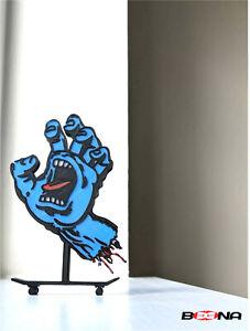 Decorative SANTA CRUZ Skateboards Screaming Hand self standing logo display