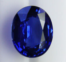 4.37ct!! SAPPHIRE ROYAL BLUE -INTENSE NATURAL COLOUR +CERTIFICATE INCLUDED
