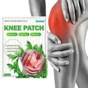 12pcs Knee Plaster Sticker Wormwood Extract Joint Ache Pain Relief Shoulder