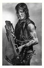 NORMAN REEDUS - THE WALKING DEAD AUTOGRAPHED SIGNED A4 PP POSTER PHOTO 1
