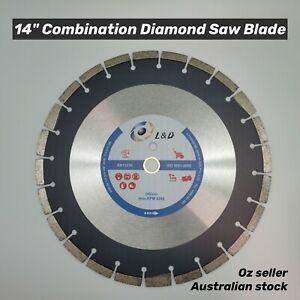 14inch Premium Laser Welded saw blade 15HP Road /Demo Saw Green concrete Bitumen