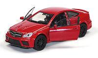 NEU: Modellauto MERCEDES-BENZ C63 AMG Coupé rot ca. 11,5cm Neuware von WELLY
