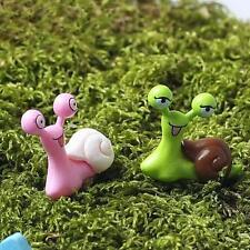 Dollhouse Miniature Mini Green Pink Snail Terrarium FAIRY GARDEN Accessories