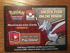 Rare Pokemon TCG Online Mistralton Gym - Season 6 Code Card