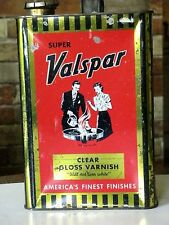 ANTIQUE CAN SUPER VALSPAR ONE GALLON CLEAR GLOSS VARNISH WILL NOT TURN WHITE USA
