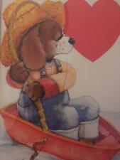 6 Orig Greeting Card ArtWork Ca1960 Christmas,Valentine,Easter,Halloween Framed