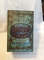 Antique Pepsinized Salted Peanuts - The Marple Bros. Co. Tin Can VERY RARE!