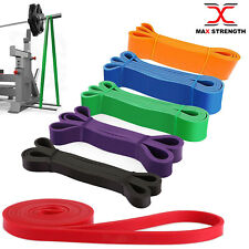 MaxStrength Resistance Bands Pull Up Heavy Duty Home Gym Fitness Exercise Tube