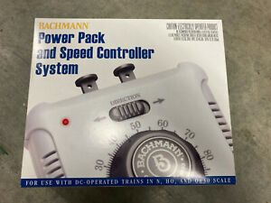 Bachmann Power Pack And Speed Controller System N, HO And On-30 Scale Trains NIB