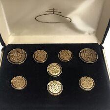 Vintage Oreo Nabisco Gold Buttons Set In Original Case