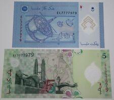 (PL) NEW: RM 1 & RM 5 EL 7777979 UNC 2 PCS SAME PREFIX & NUMBER ALMOST SOLID 7