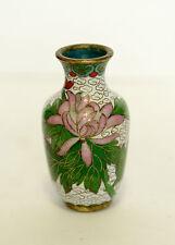 Cloisonne Vase Mini- Old Antique Cloisonne Floral Pattern Small beautiful piece!