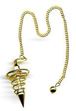 Gold Plated Brass Spiral Pendulum   Comes with pouch!!