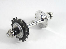 Campagnolo C Record Track Hub 28H W <C> Lockring & 15T Campy Alloy Cog 120mm NOS