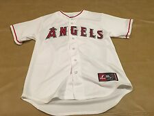 NWT Angel Baseball Pujols Jersey #5 Anaheim MLB White Medium Majestic Stitched