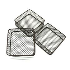 Rusty Wire Storage Baskets Desks & Shelves Organizer Trinkets Container Set of 3
