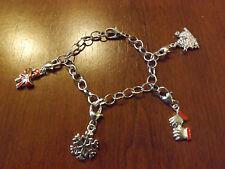 bracelet de noël argenté 4 charms (bra01)