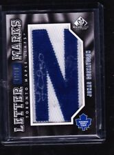 10-11 2010-11 SP GAME USED JONAS GUSTAVSSON LETTER MARK 'N' AUTO /50 MAPLE LEAFS