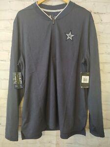 NFL Dallas Cowboys Nike Dri-Fit On Field Sideline Coaches Jacket 1/4 Zip  XL NEW