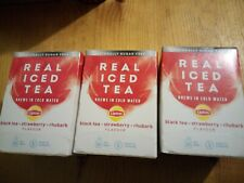 Lipton Cold Brew Black Tea Strawberry Rhubarb(Pack of 15) 67737992 x 3