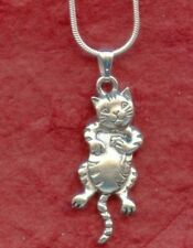 Cat Necklace New cute head and tail move kitten kat kitty jewellery