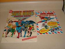 1978 DC POSTER & POST CARD BOOK BATMAN SUPERMAN WONDER WOMAN Isaac Asimov