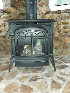 Vermont Castings Direct Vent Gas Heater stove pipe included.