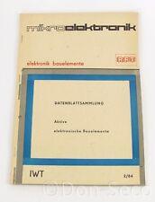 Datenblattsammlung Aktive elektronische Bauelemente 2/84 RFT mikroelektronik IWT