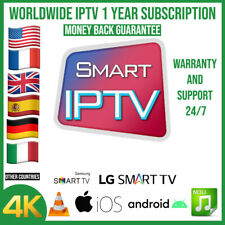 IP TV Subscription 12 Months MAG STB Smarters Pro M3U Android Box IOS Smart TV