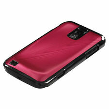 Samsung Galaxy S2 T989 (T-Mobile) Hot Red Acrylic Metal Aluminum Hard Case Cover