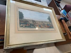 May 12, 1794 Laurie & Whittle engraved print Palace of Triano an Park Versailles