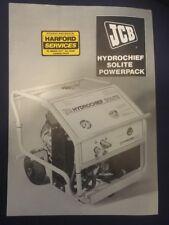 Jcb Hydrochief Solite Power Pack Leaflet