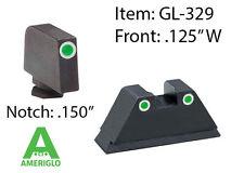 AmeriGlo Tall Suppressor Tritium Night Sights for Most Glock Pistols GL-329