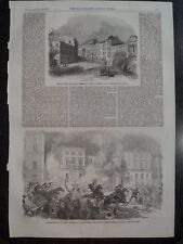 Insurrection In Spain Madrid Two Views 1854 Illustrated London News